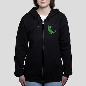 pregasaurus rex Women's Zip Hoodie
