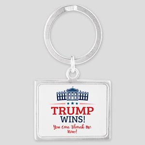 Trump Wins Landscape Keychain