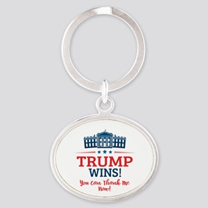 Trump Wins Oval Keychain