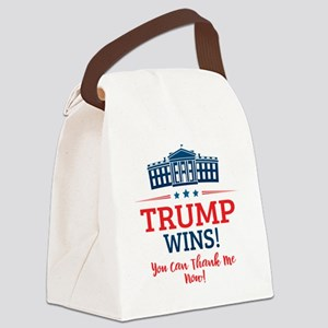 Trump Wins Canvas Lunch Bag