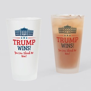 Trump Wins Drinking Glass