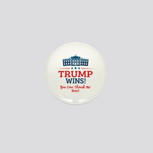 Trump Wins Mini Button