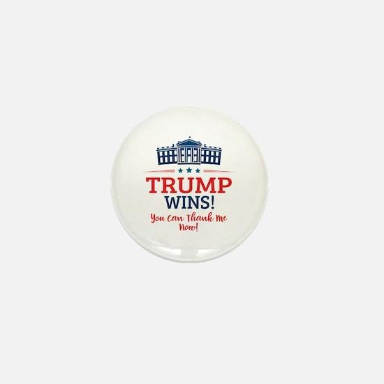 Trump Wins Mini Button