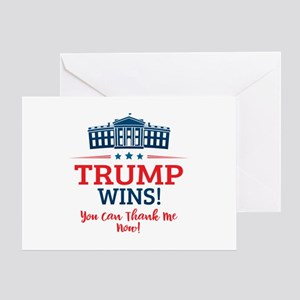 Trump Wins Greeting Card