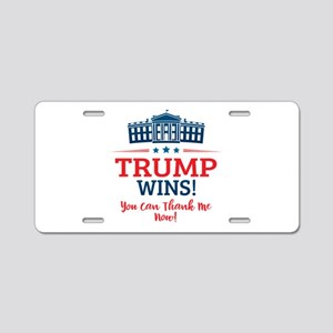 Trump Wins Aluminum License Plate