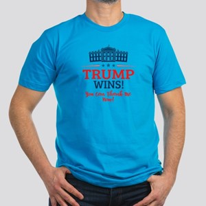 Trump Wins Men's Fitted T-Shirt (dark)