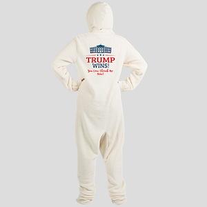Trump Wins Footed Pajamas