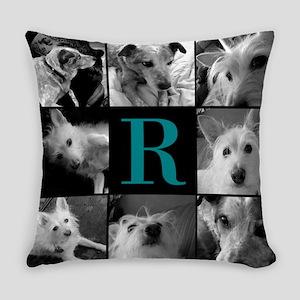 Elegant Monogram Photoblock Everyday Pillow