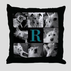 Elegant Monogram Photoblock Throw Pillow