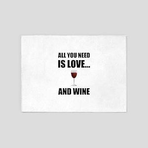 All Need Love Wine 5'x7'Area Rug