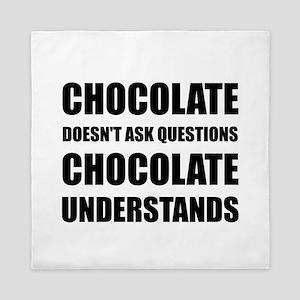 Chocolate Questions Understands Queen Duvet