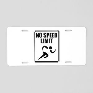 No Speed Limit Runner Aluminum License Plate