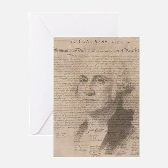 Unique George washington Greeting Card