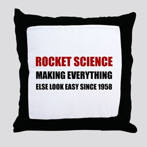 Rocket Science Look Easy Throw Pillow