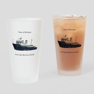 State Of Michigan Drinking Glass