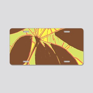 House Plant Red Yellow Gree Aluminum License Plate