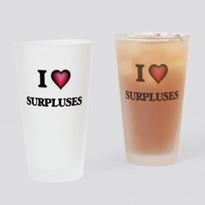 I love Surpluses Drinking Glass