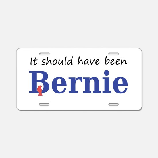 It should have been Bernie Aluminum License Plate