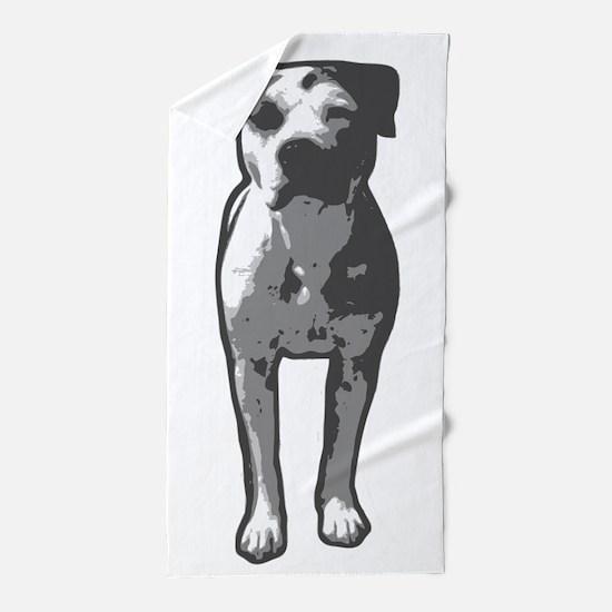 Pit Bull T-Bone Graphic Beach Towel