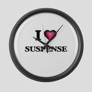I love Suspense Large Wall Clock