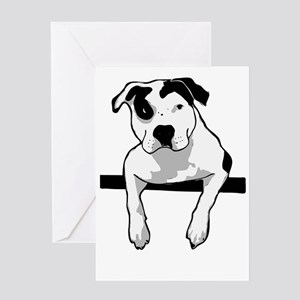 Pit Bull T-Bone Graphic Greeting Cards