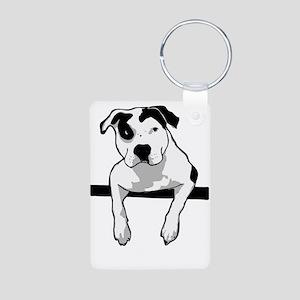Pit Bull T-Bone Graphic Keychains