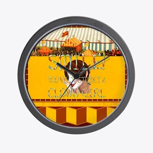 Clown Girl Wall Clock