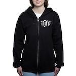 DFP white logo Women's Zip Hoodie
