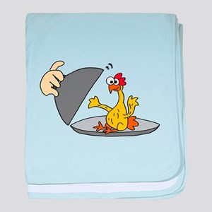 Rubber Chicken for Dinner baby blanket