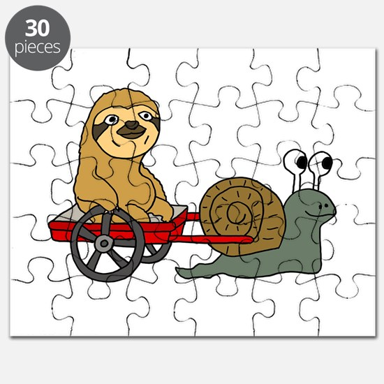 Snail Pulling Wagon with Sloth Puzzle