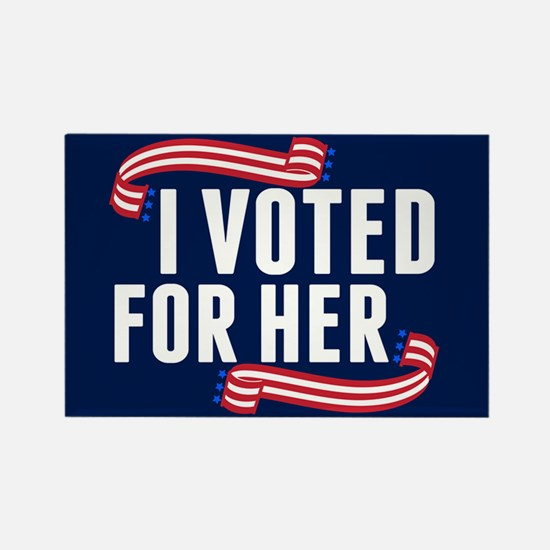 Voted Hillary Rectangle Magnet