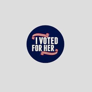 Voted Hillary Mini Button