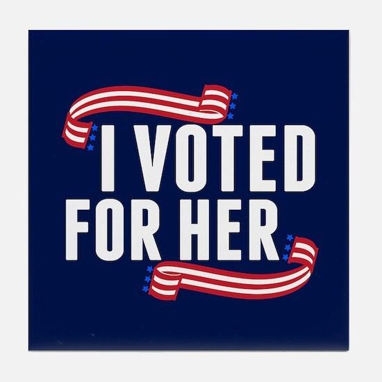 Voted Hillary Tile Coaster