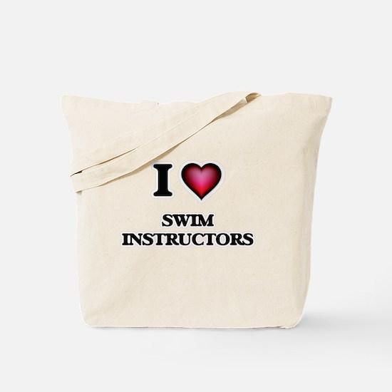 I love Swim Instructors Tote Bag