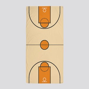 Basketball Court Beach Towel