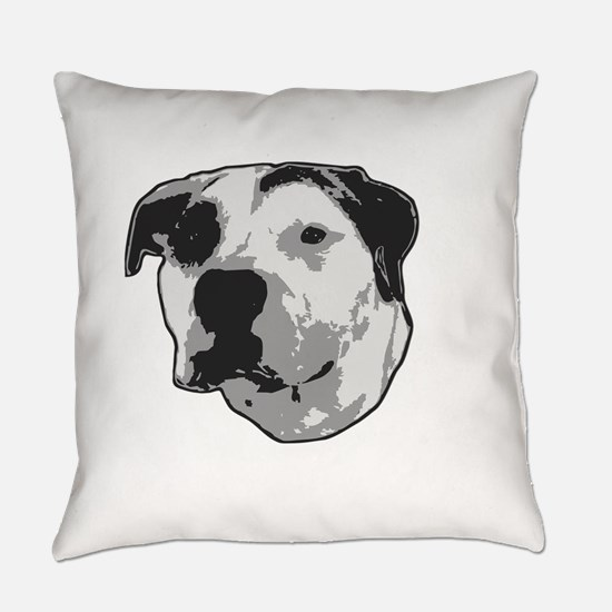 Pit Bull T-Bone Graphic Everyday Pillow