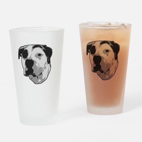 Pit Bull T-Bone Graphic Drinking Glass