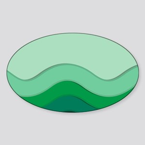 Green Waves Sticker