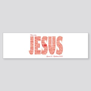 Who Is This Jesus Bumper Sticker