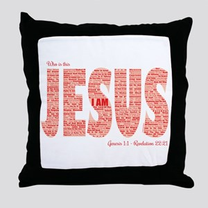 Who Is This Jesus Throw Pillow