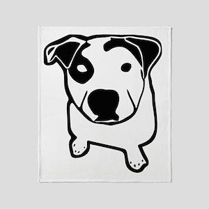 Pit Bull T-Bone Graphic Throw Blanket