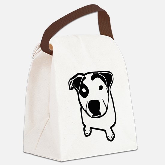 Pit Bull T-Bone Graphic Canvas Lunch Bag