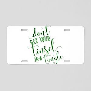 TINSEL TANGLE Aluminum License Plate