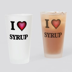 I love Syrup Drinking Glass