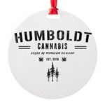 Humboldt Cannabis Round Ornament