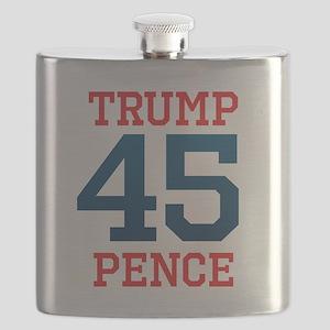 Trump Pence 45 Flask