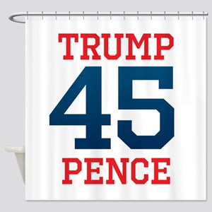 Trump Pence 45 Shower Curtain