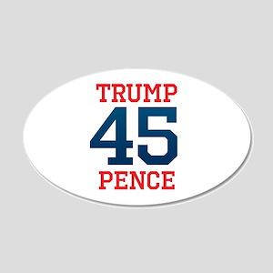 Trump Pence 45 20x12 Oval Wall Decal
