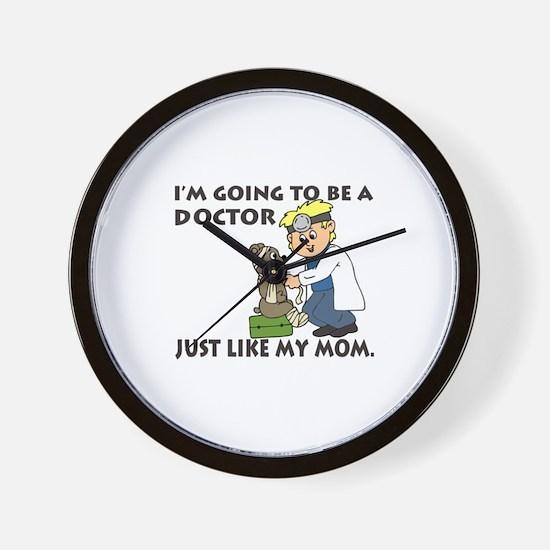 Future Doctor Mom Wall Clock