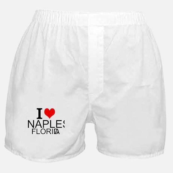 I Love Naples, Florida Boxer Shorts